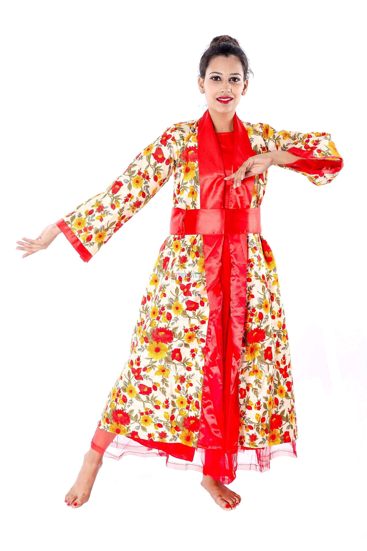 Japanese Womens Kimono Gown