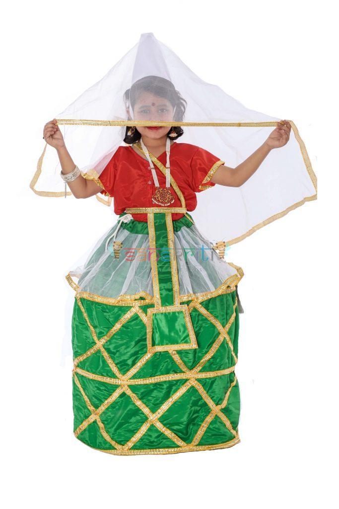 Manipuri Dance Dress