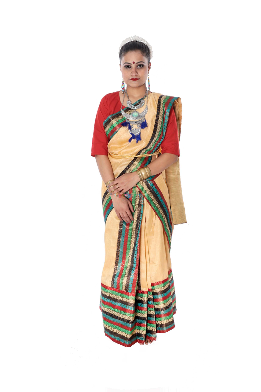 Bihu Saree Dress