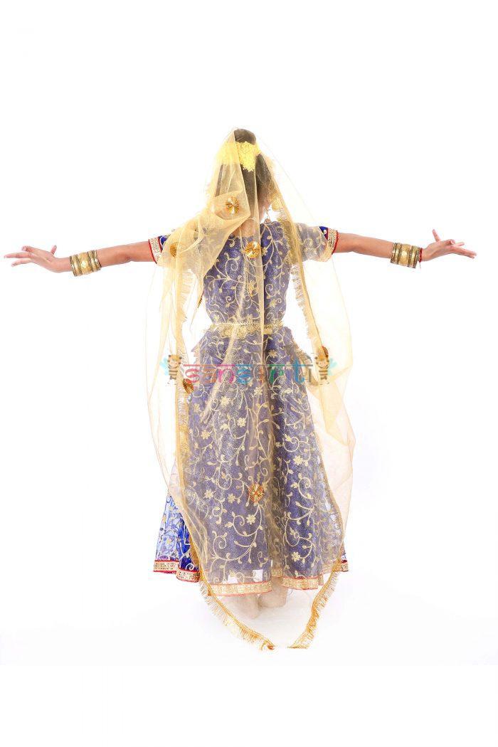 Radha Rani Lehenga Fancy Dress (Blue & Cream)