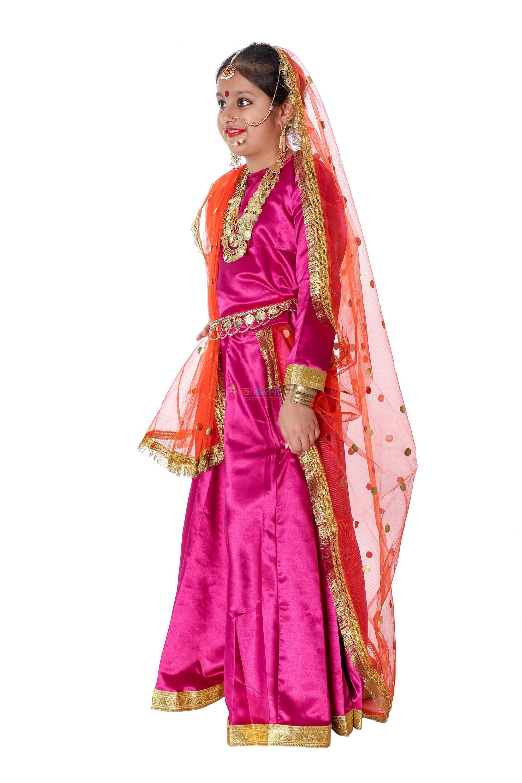 Lehenga Fancy Dress (Pink)& Orange