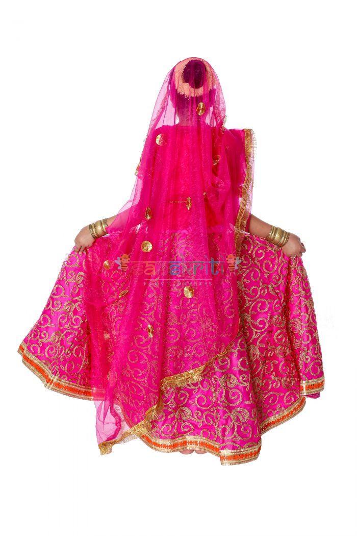 Radha Rani Lehenga Fancy Dress (Pink)