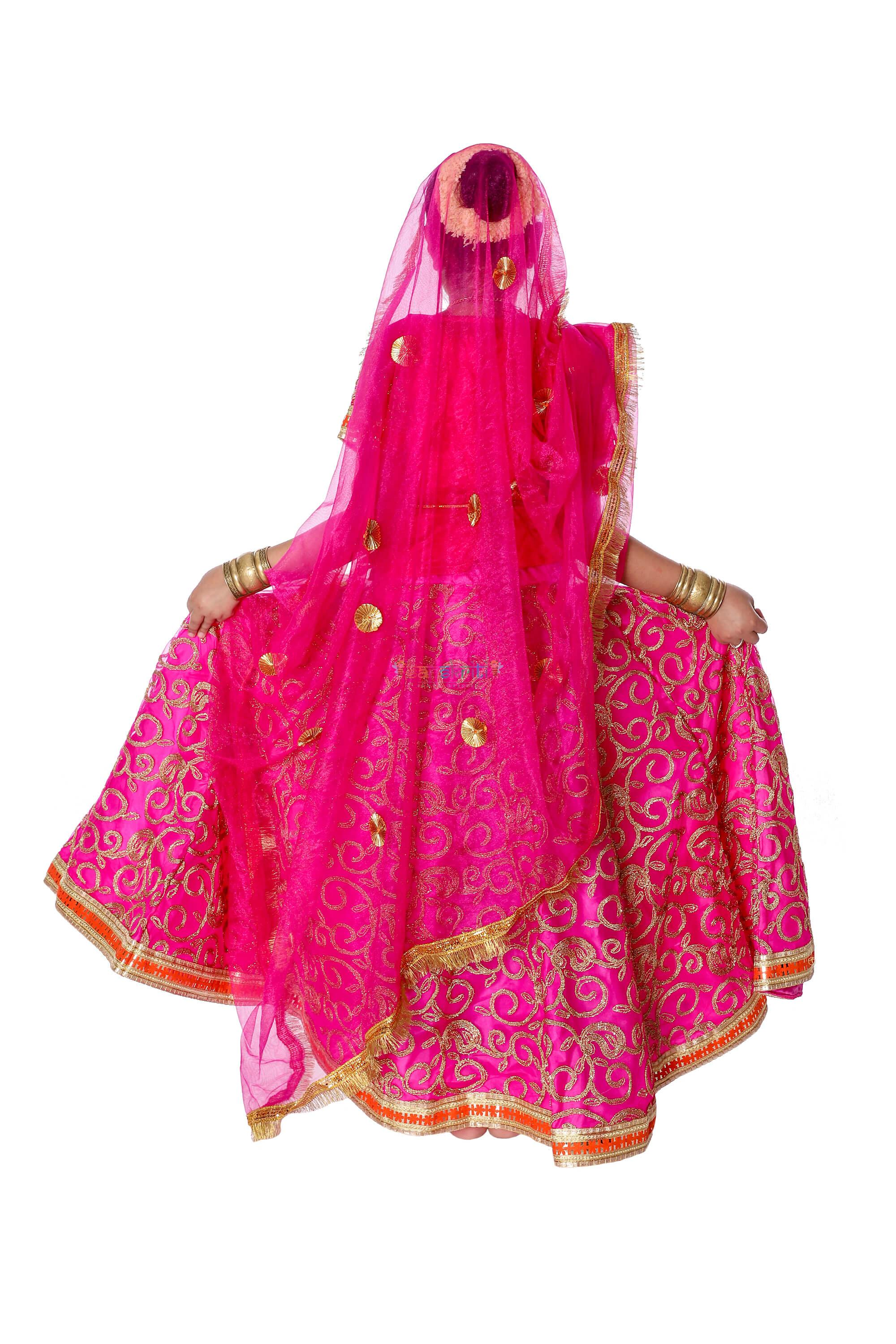 Radha Rani Lehenga Fancy Dress (Pink)
