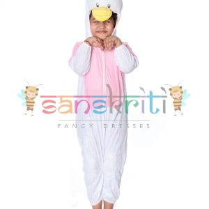 Pink Donal Duck Fancy Dress Costume