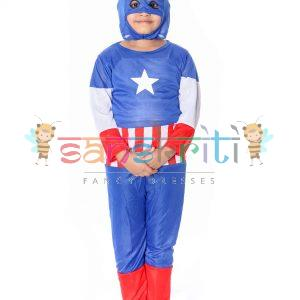 Captain America Fancy Dress Costome
