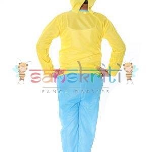 Yellow Hulk Cartoon Fancy Dress Costume