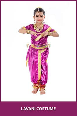 Lavani Saree Fancy Dress Costume