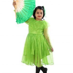 Chinese Fan Western Dance Fancy Dress Costume for Girls