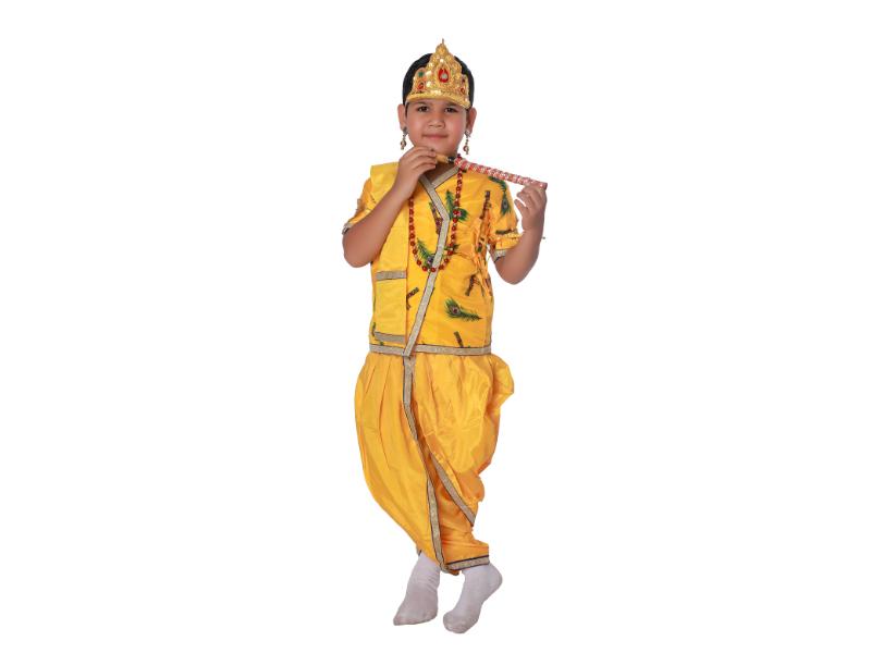Krishna Fancy Dress Costume Cotton And Chairman
