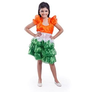 Frock for Girls- Independence Day Fancy Dress Costume (3-5 Years)